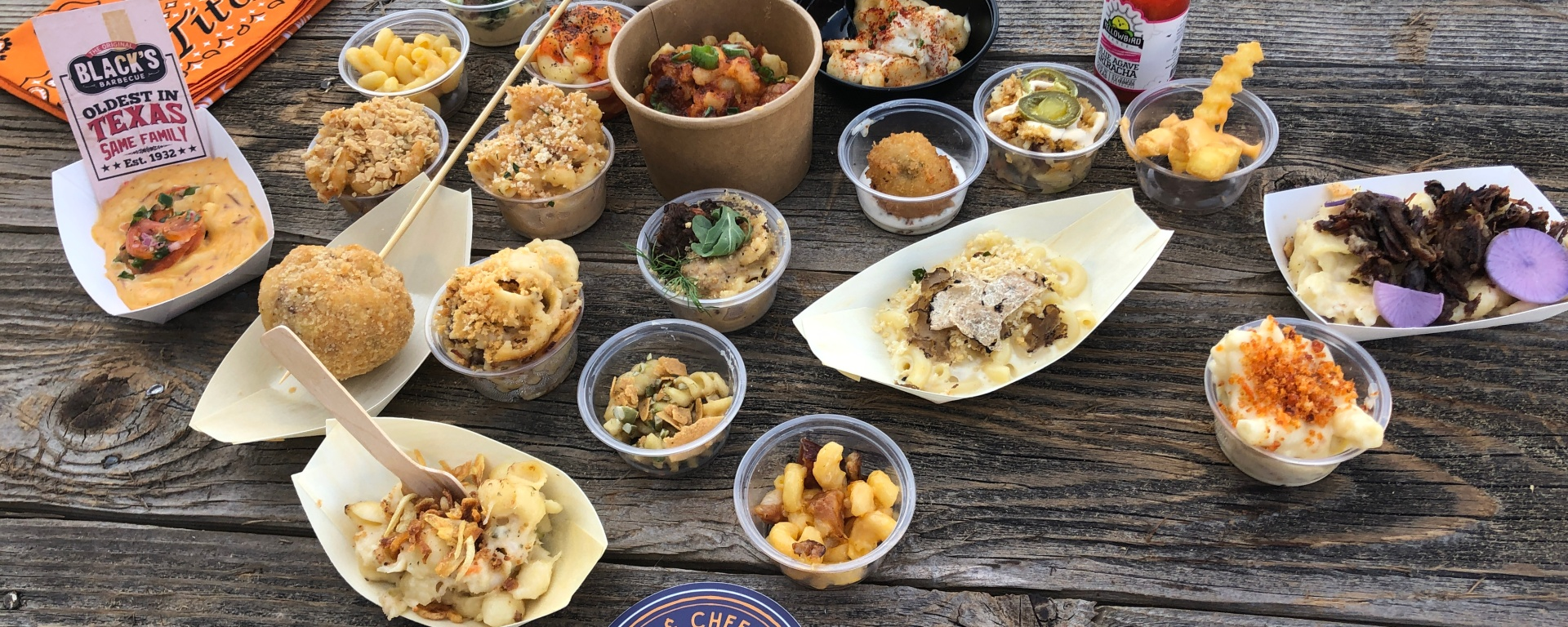 All of the mac n cheese the festival had to offer.