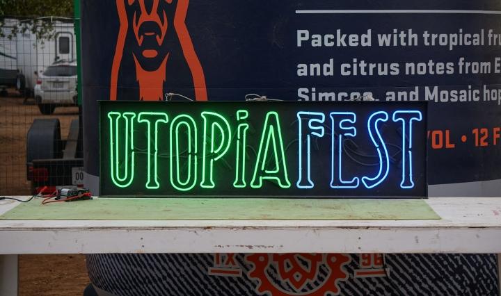 UtopiaFest sign