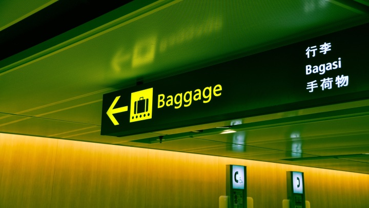 a picture of a baggage sign