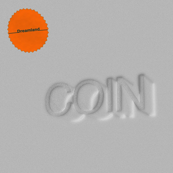 The image is flat gray and the band's name seems to be indented with a faint white shadow behind. In the top left corner of a burnt orange, circular patch with a zigzag border, and the album name in the center of it.