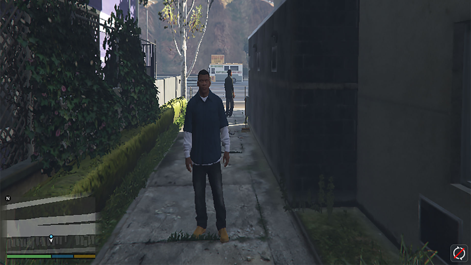 Screenshot of Franklin from Grand Theft Auto V