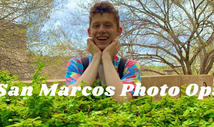 "a photo taken at Hines of Alex with the text ""San Marcos Photo Ops"" on top"
