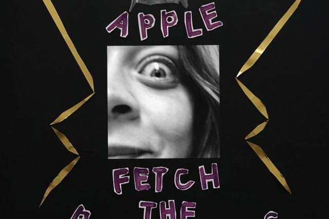 In the middle of the album art is a close up picture of Fiona Apple's face, with the artist and album name in playful purple letters.