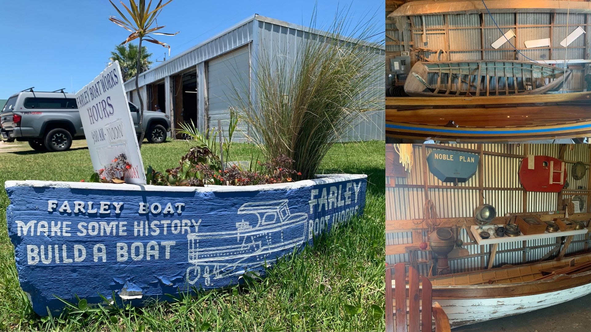 Photos from the Farley's Boat Works in Port Aransas and their Farley boat.