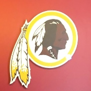The Washington Redskins current logo depicting a Native American