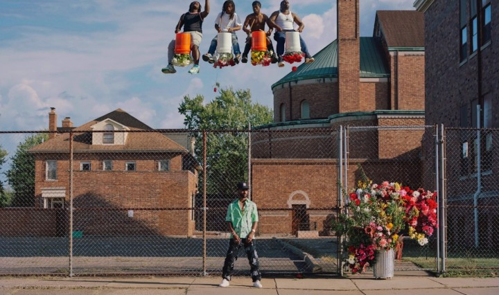 Big Sean is photographed in his hometown of Detroit