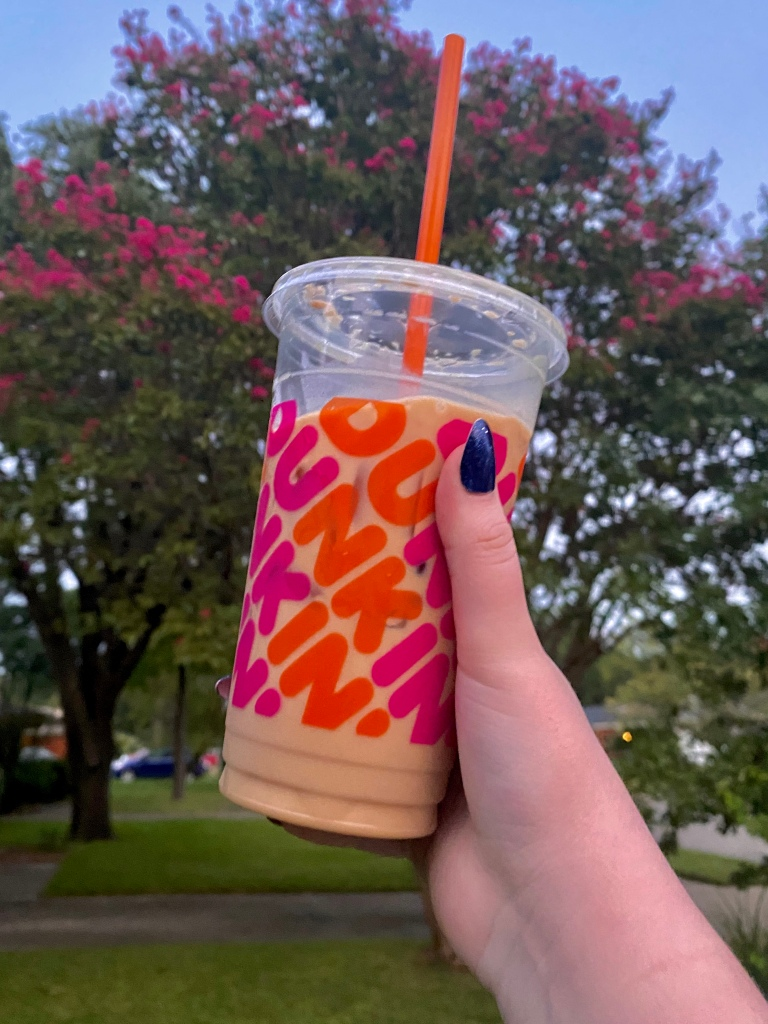 Picture of Dunkin's iced oat milk latte