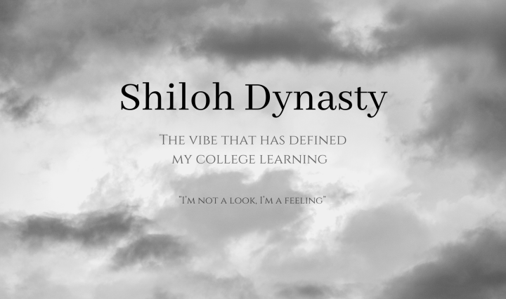 "Shiloh Dynasty: The Vibe that has defined my college learning ""I'm not a look, I'm a feeling"""