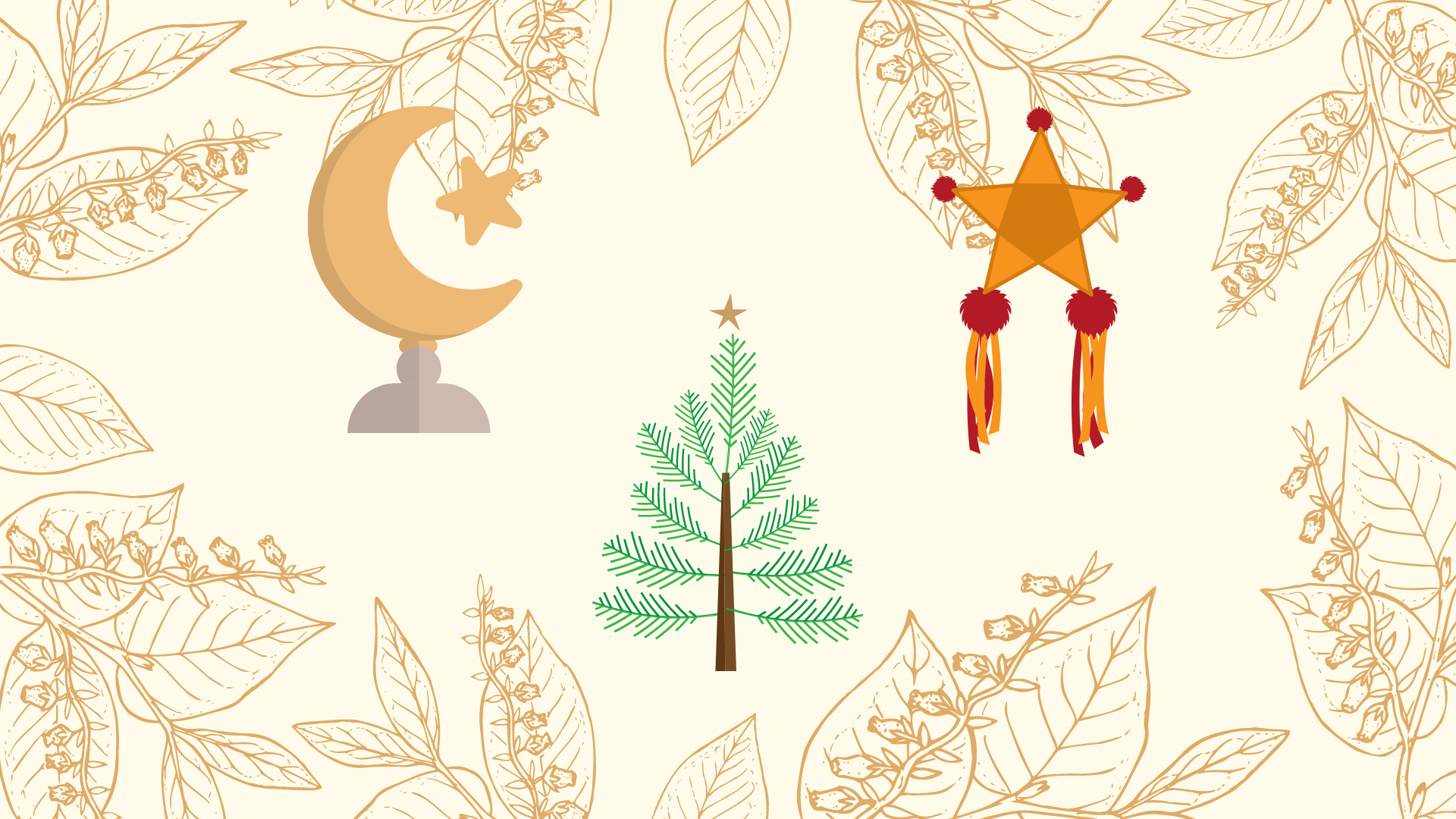 Drawing of holiday symbols