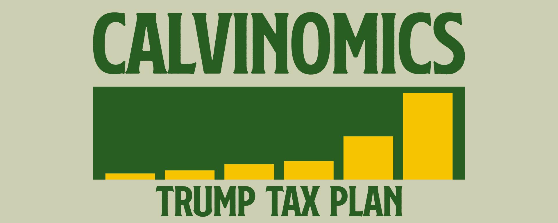 Calvinomics written in green with a graph
