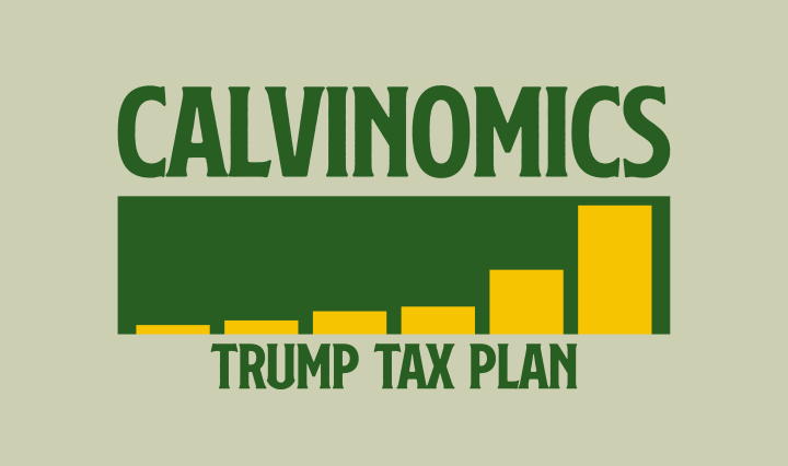 Calvinomics written in green with a graph