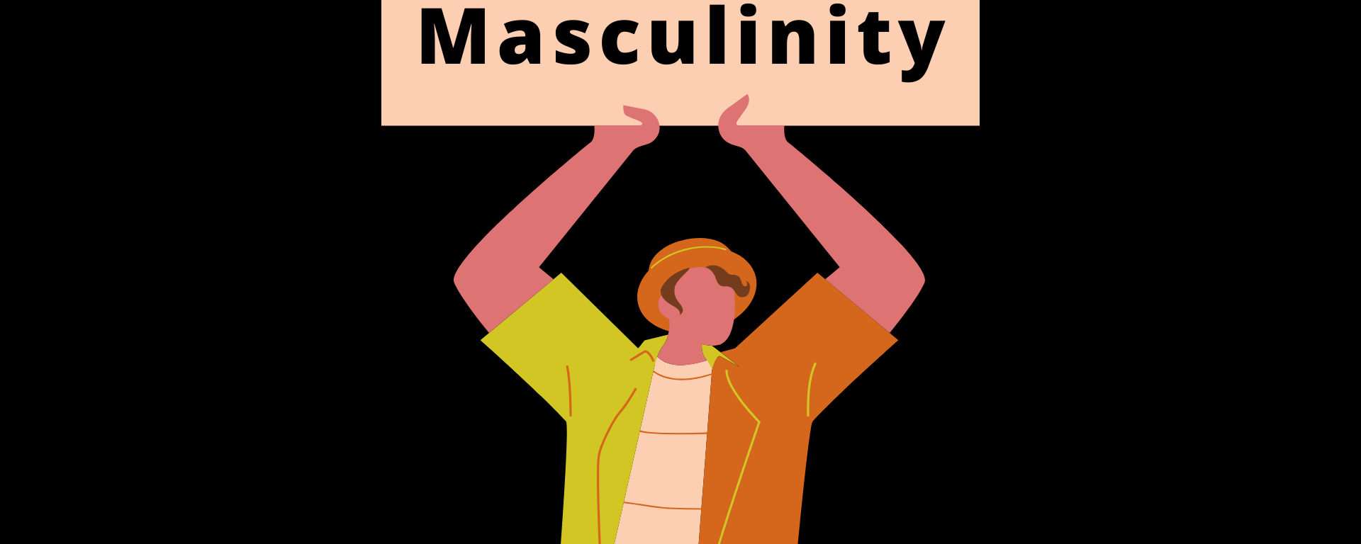 "An animated man holding up a sign that says ""End Toxic Masculinity"""
