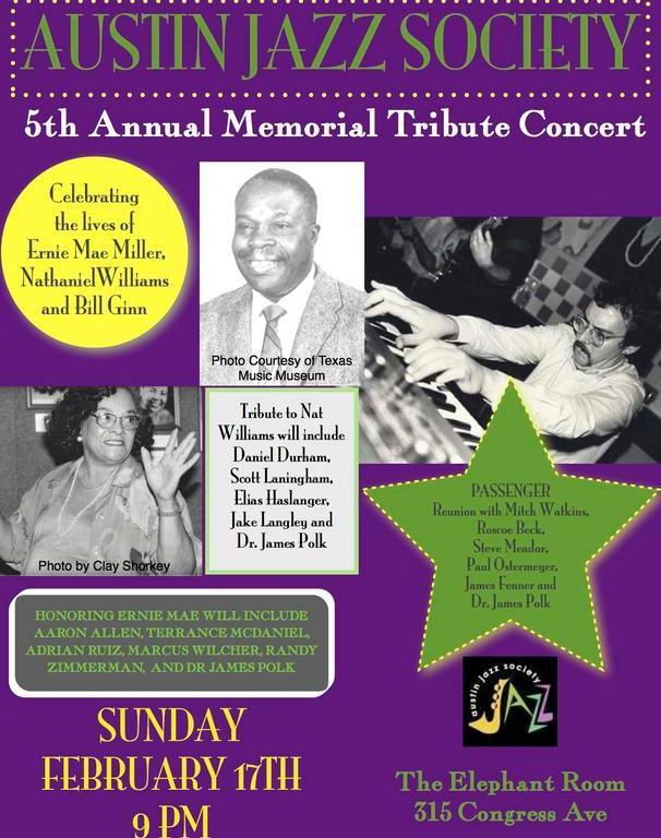 Austin Jazz Society concert poster