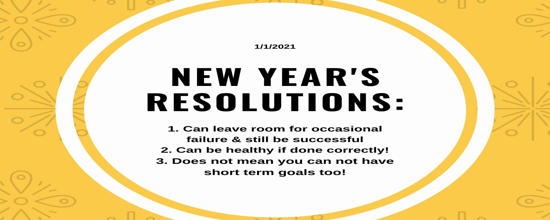 List made to look like a list of New Year's Resolutions that instead list facts about New Year's resolutions