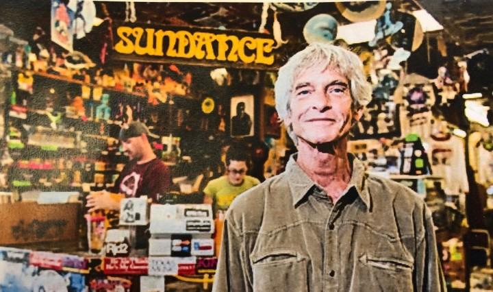 Bobby Barnard standing in Sundance Records & Tapes