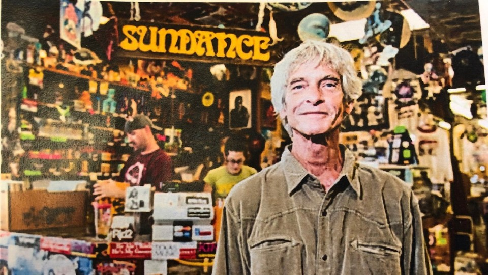 Bobby Barnard standing in Sundance Records & Tapes