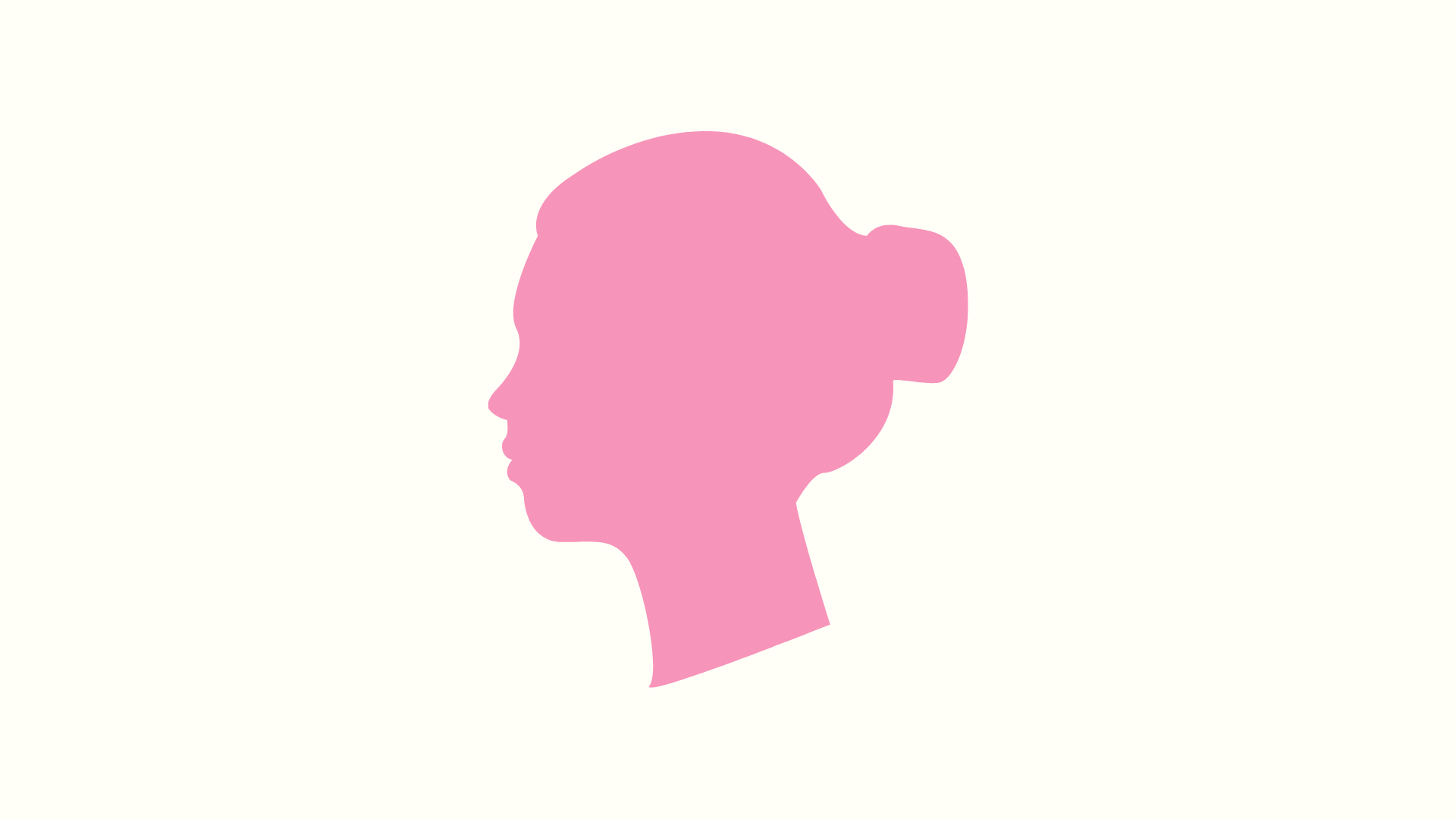 Illustration of a woman's bust outline that is pink.