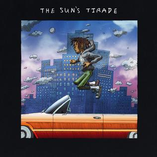 The album cover is an animated graphic of Isaiah Rashad floating above an orange convertible car in front of a cloudy night skyline