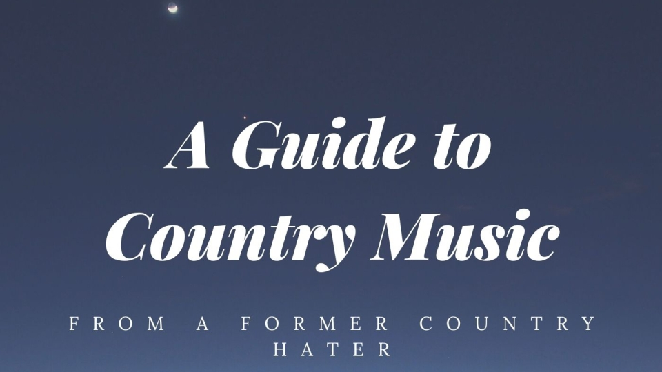 """Blue Sky with the works """"A Guide to Country Music From A Former Country Hater"""""""