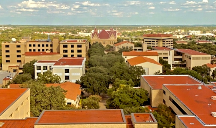 image overlooking Texas State University