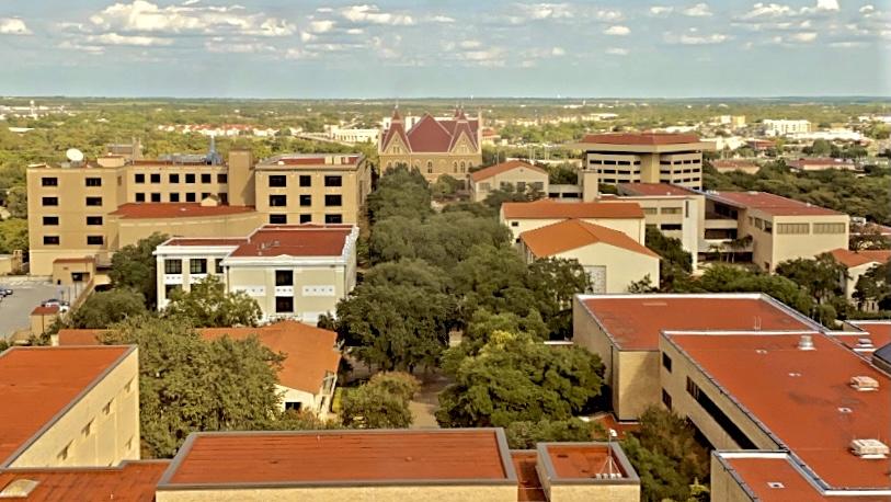image overlooking Texas State University