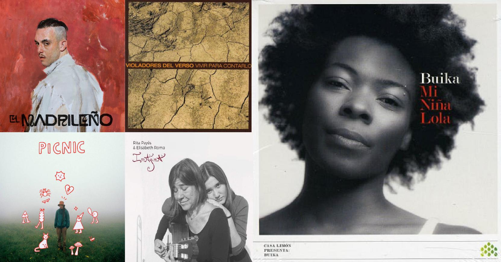 albums of bands C. Tangana, Fanso, Violadores Del Verso, Buika, and Rita Payés